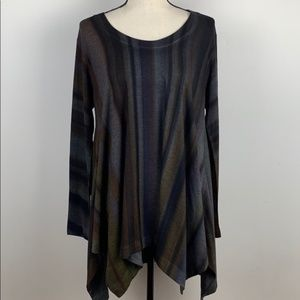 Soft Surroundings Esha Strip Tunic Size L